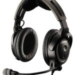 Bose® A20 Aviation Headset (Battery-powered w/Bluetooth, Electret mic, Straight cord, Twin plug)